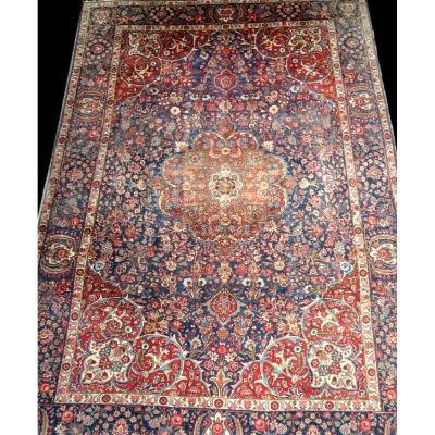 Tapis Persan Tabriz, Iran, 222 cm x 338 cm, laine nouée main vers 1970, bon état