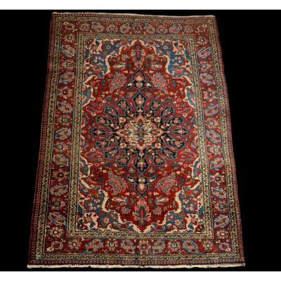 Tapis Persan Mechkabad ancien, Iran, 149 cm x 212 cm, laine nouée main au début du XXème siècle