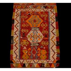 Kilim ancien, Anatolie, Turquie, 92 cm x 146 cm, laine, première partie du XXème Siècle