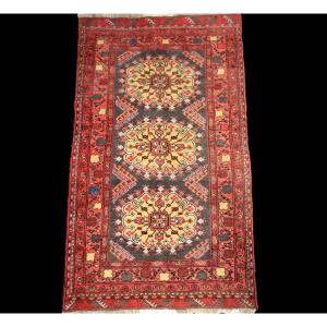 Afghan Rug, 106 Cm X 190 Cm, Wool On Wool, Hand-knotted Around 1970, Perfect Condition