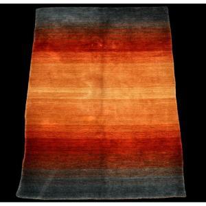 Tapis Gabbeh, 143 cm x 197 cm, laine nouée main, Iran, 1970-1980, couleurs exceptionnelles