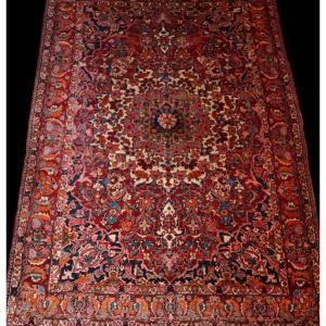 Tapis Persan Bakhtiar, Iran,  214 cm x 313 cm, noué main vers 1970 en très bon état