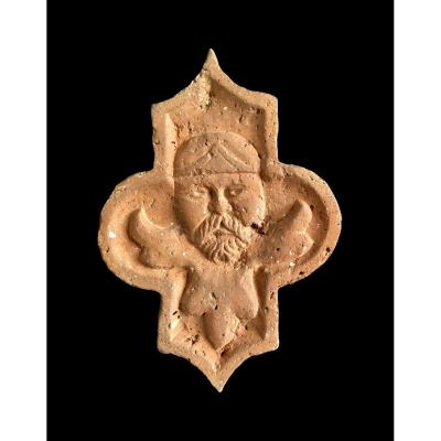 A Terracotta Tile, Billom (auvergne) Late 15th / Early 16th Century