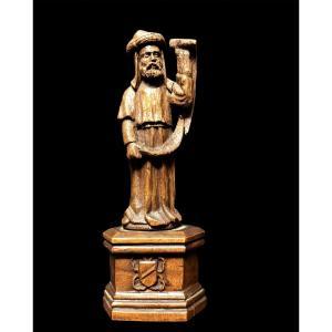 Petite Sculpture d'Un Prophète Anvers, XVIe Siècle