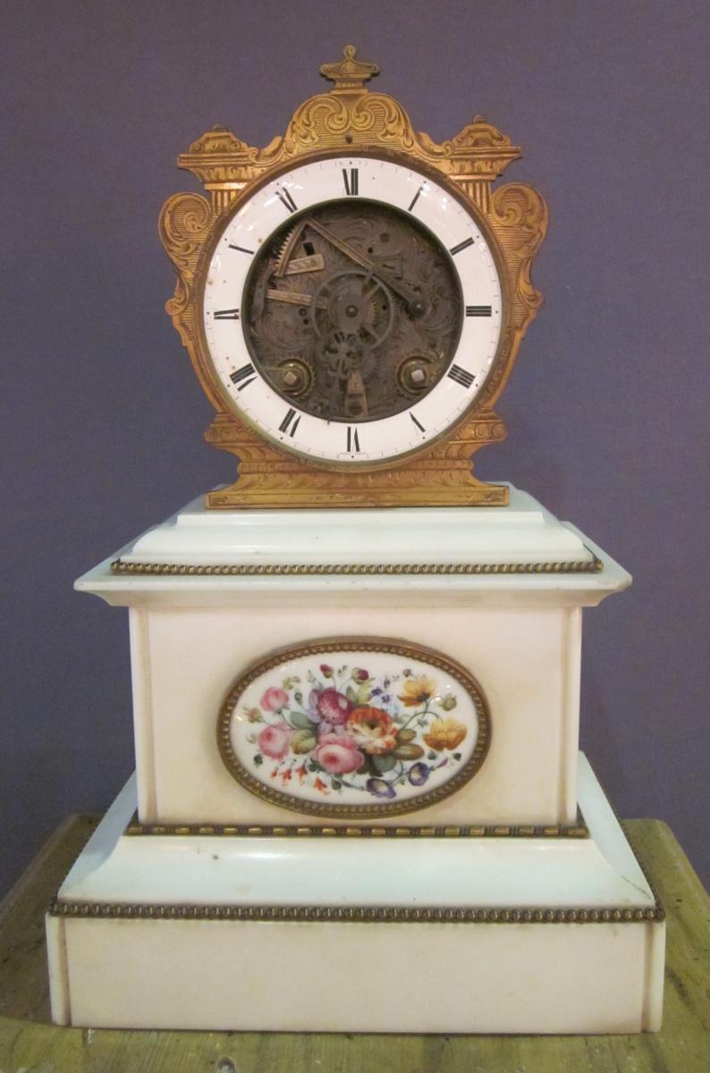 Pendule squelette de style Louis XVI, XIXème siècle