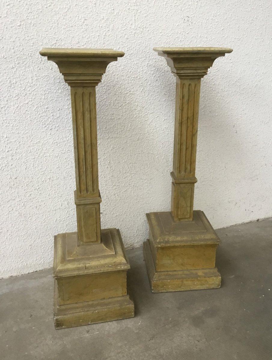 Pair Of Columns, 19th Century