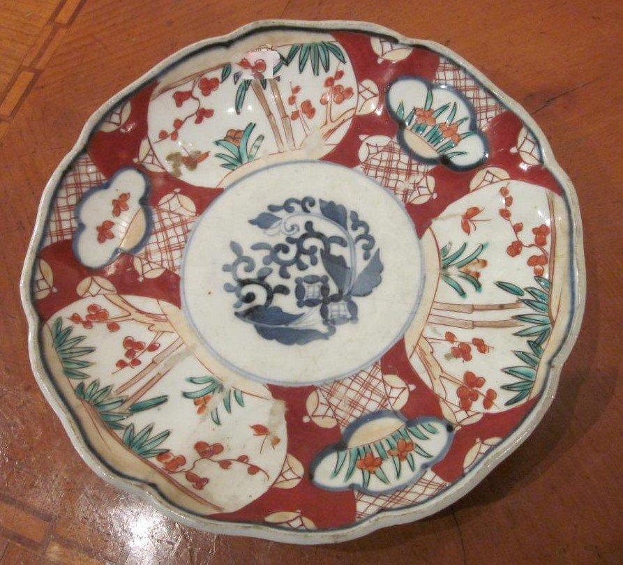 IMARI (XIXe siècle) - Assiette en porcelaine