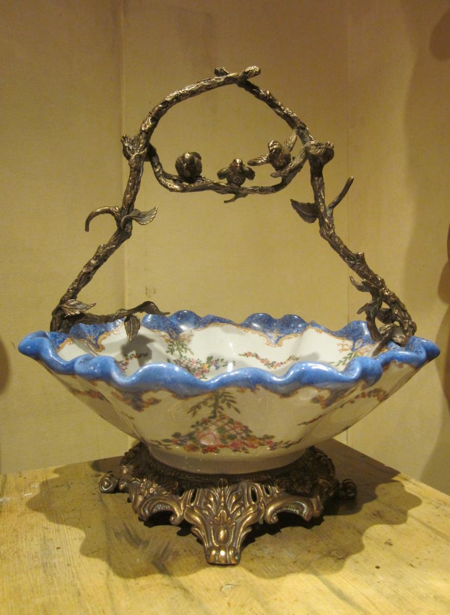 Earthenware Cup, Frame Decorated With Birds