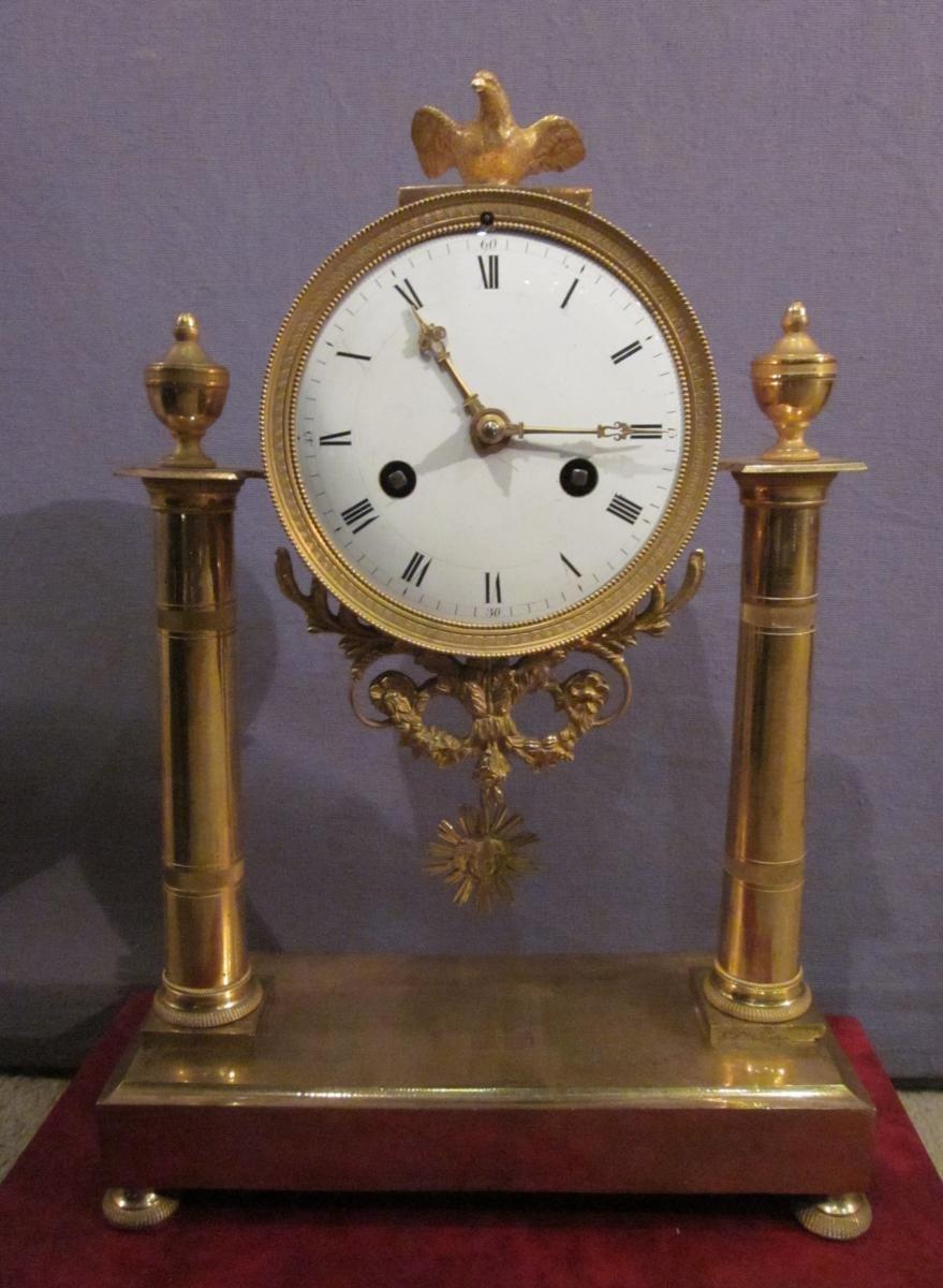 Gilt Bronze Clock, Empire Period