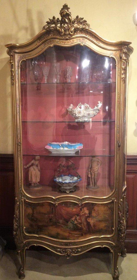 Vitrine à décor peint, époque Napoléon III