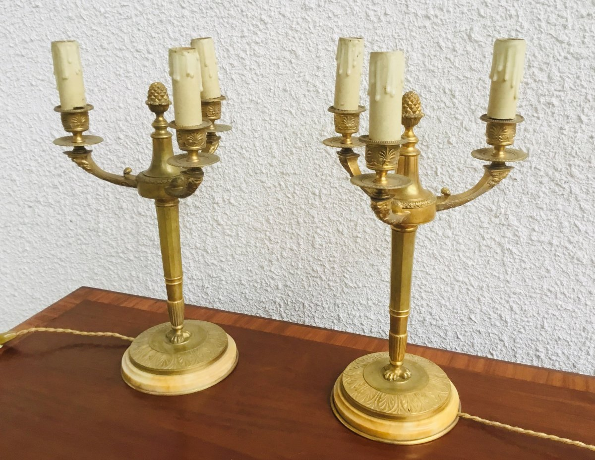 Pair Of Empire Style Candelabra