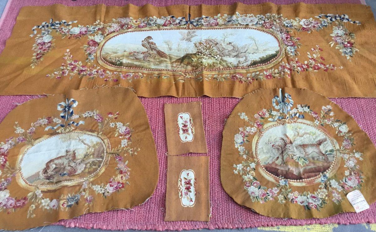 Ensemble de garnitures de sièges, Aubusson, Napoléon III