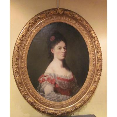 Portrait de femme, XIXème siècle