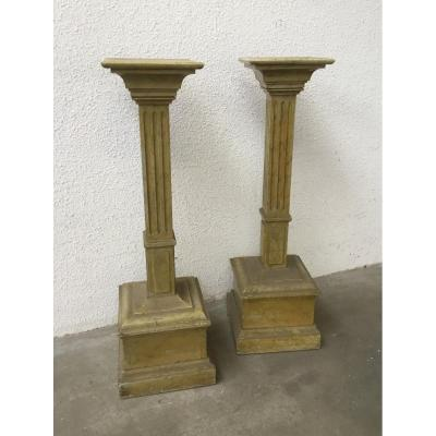 Pair Of Columns, 19th Century