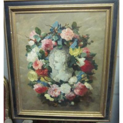 19th Century Lyonnaise School: Flower Crown