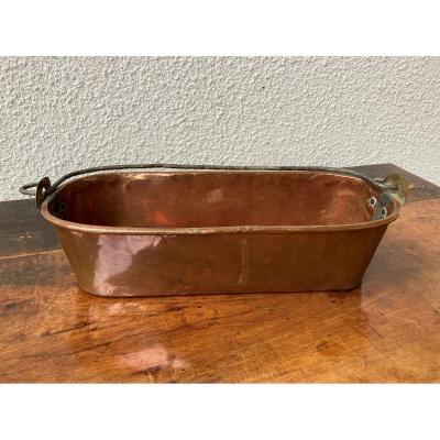 Poissonnière en cuivre, XVIIIe sièce