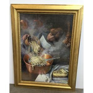 GAMBERINI Giovacchino (1859-1904) - En cuisine