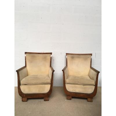 Pair Of Dominica Armchairs