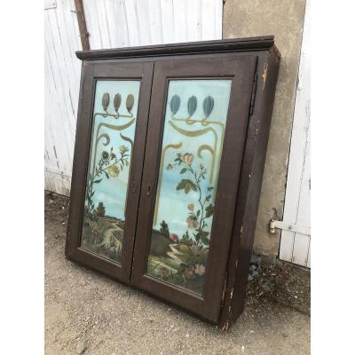 Placard Ancien D époque Art Nouveau
