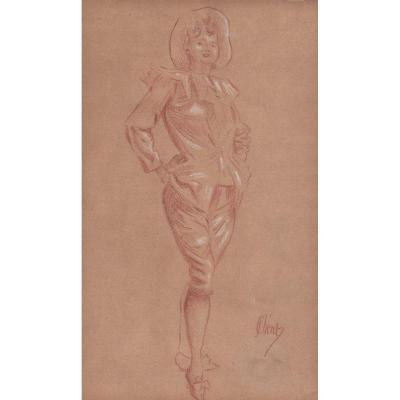 Colombine par Jules Chéret (1836-1932)