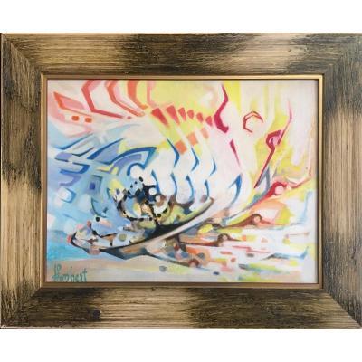 Abstract Art 1970 Julien Lambert