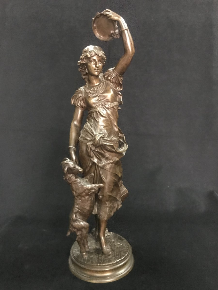 "Bronze Sculpture ""la Gitane"""