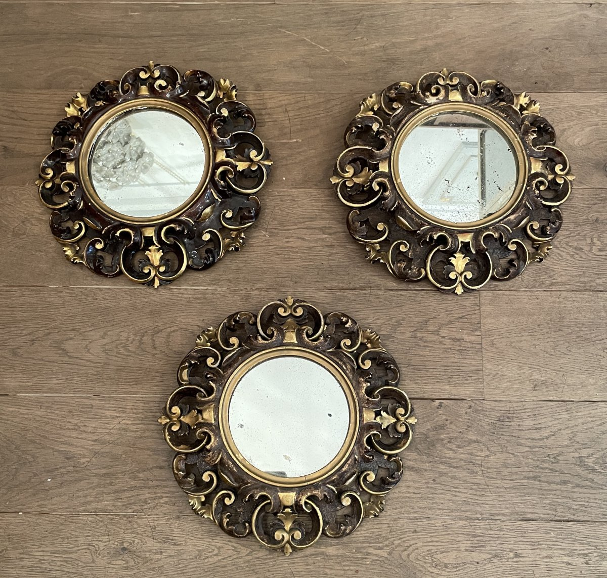 Suite Of 3 Baroque Style Mirrors