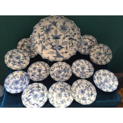 Série d'Assiette En Porcelaine Allemande