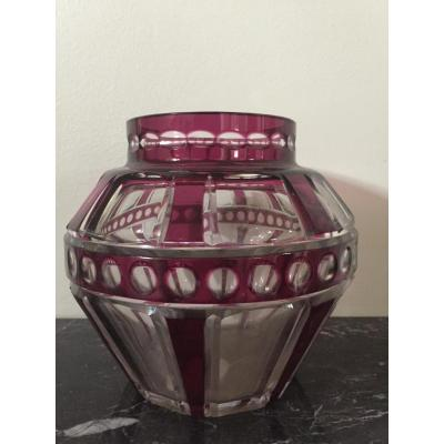 Vase Cristal Art Déco
