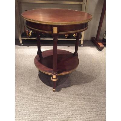 Table Guéridon Bouillotte