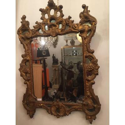 Miroir En Bois Doré XVIII