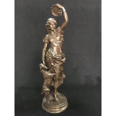 "Bronze Sculpture ""la Gitane"""