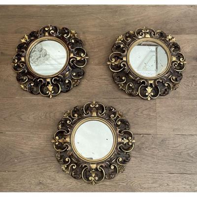 Suite De 3 Miroirs De Style Baroque