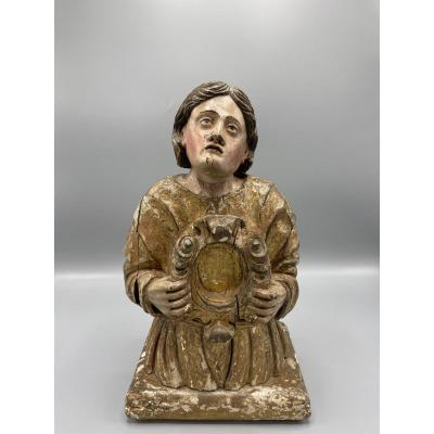 Reliquary In Carved Wood XVIII