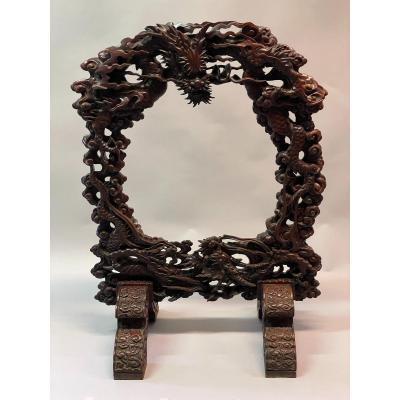 Porte Gong Asiatique XIX Siècle