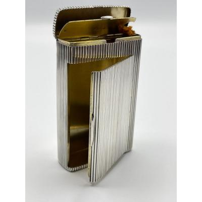 Cigarette And Pyrogen Box In Silver With Russian Hallmark