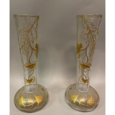 Paire De Vase Art Nouveau