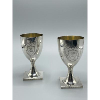 Pair Of Silver Goblets