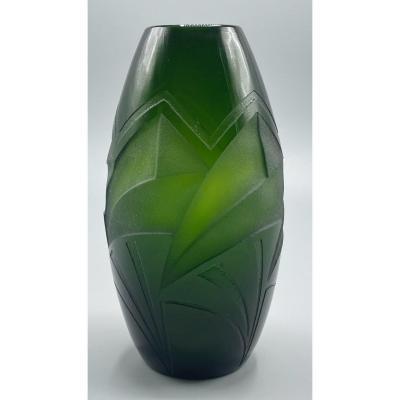 Vase à Décor Géométrique De Legras