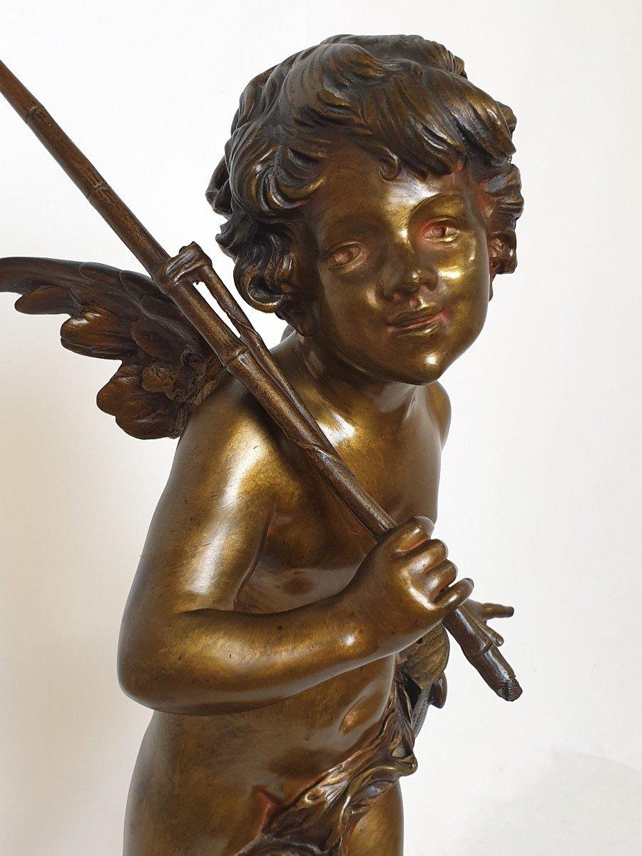 Figure En Bronze Cupidon Auguste Moreau-photo-3