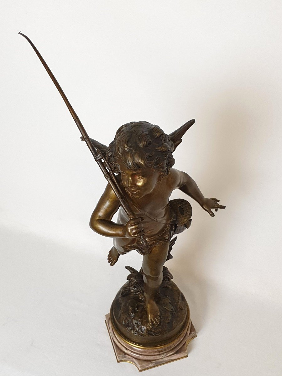 Figure En Bronze Cupidon Auguste Moreau-photo-8