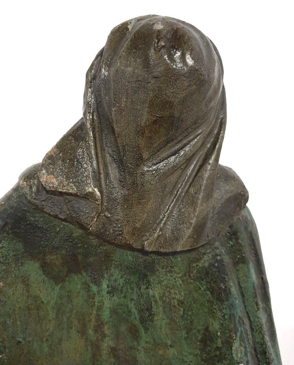 Figure Mere De Dieu Avec Enfant 18eme Siecle Polychrome-photo-6