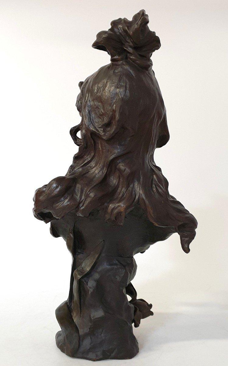 Buste En Bronze Art Nouveau Ant Nelson Paris 63 Cm-photo-3