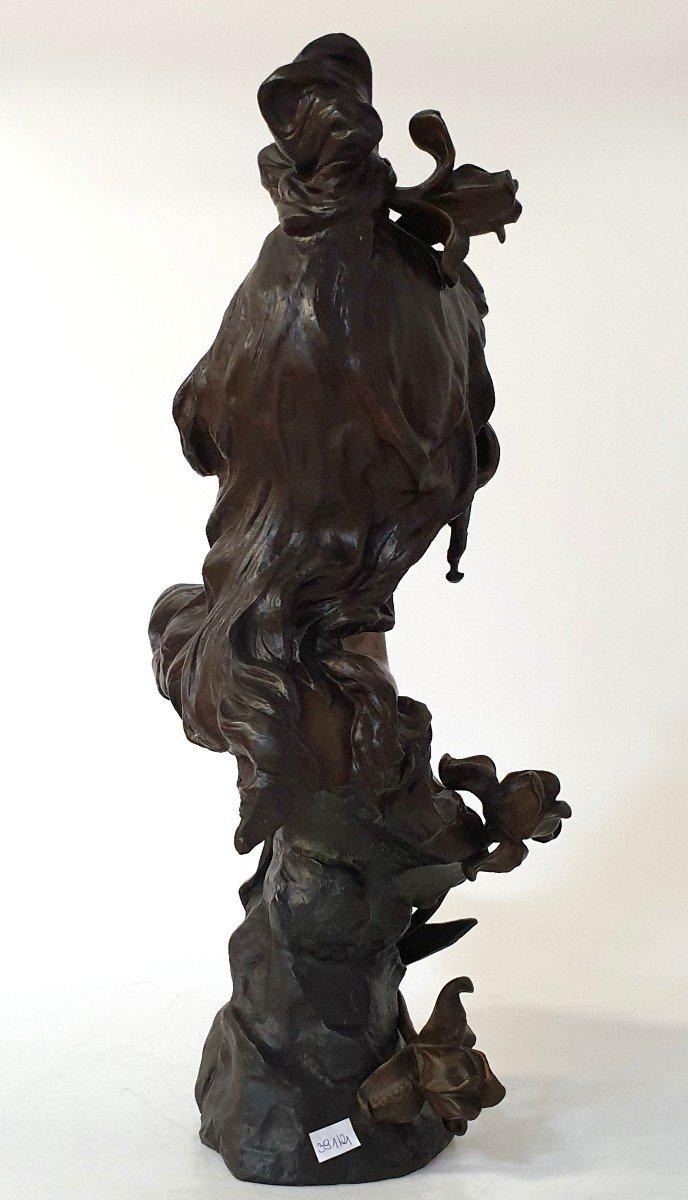 Buste En Bronze Art Nouveau Ant Nelson Paris 63 Cm-photo-5