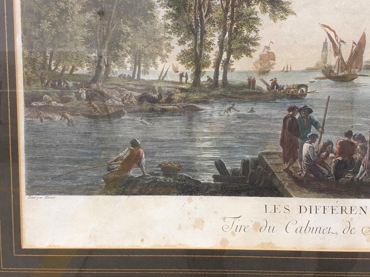 Gravure Couleurs XVIIIe Claude-joseph Vernet 75x95cm-photo-1