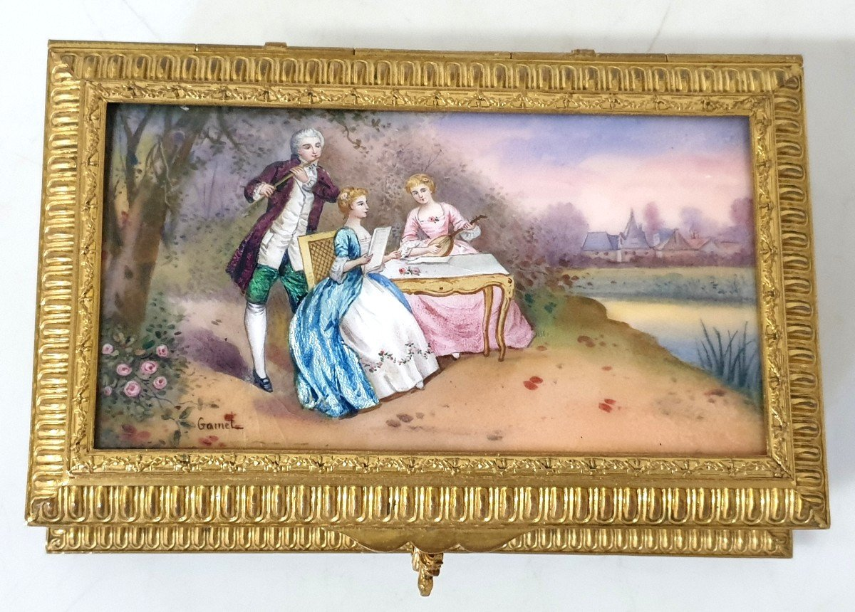 Boîte à Bijoux émail Bronze -photo-2
