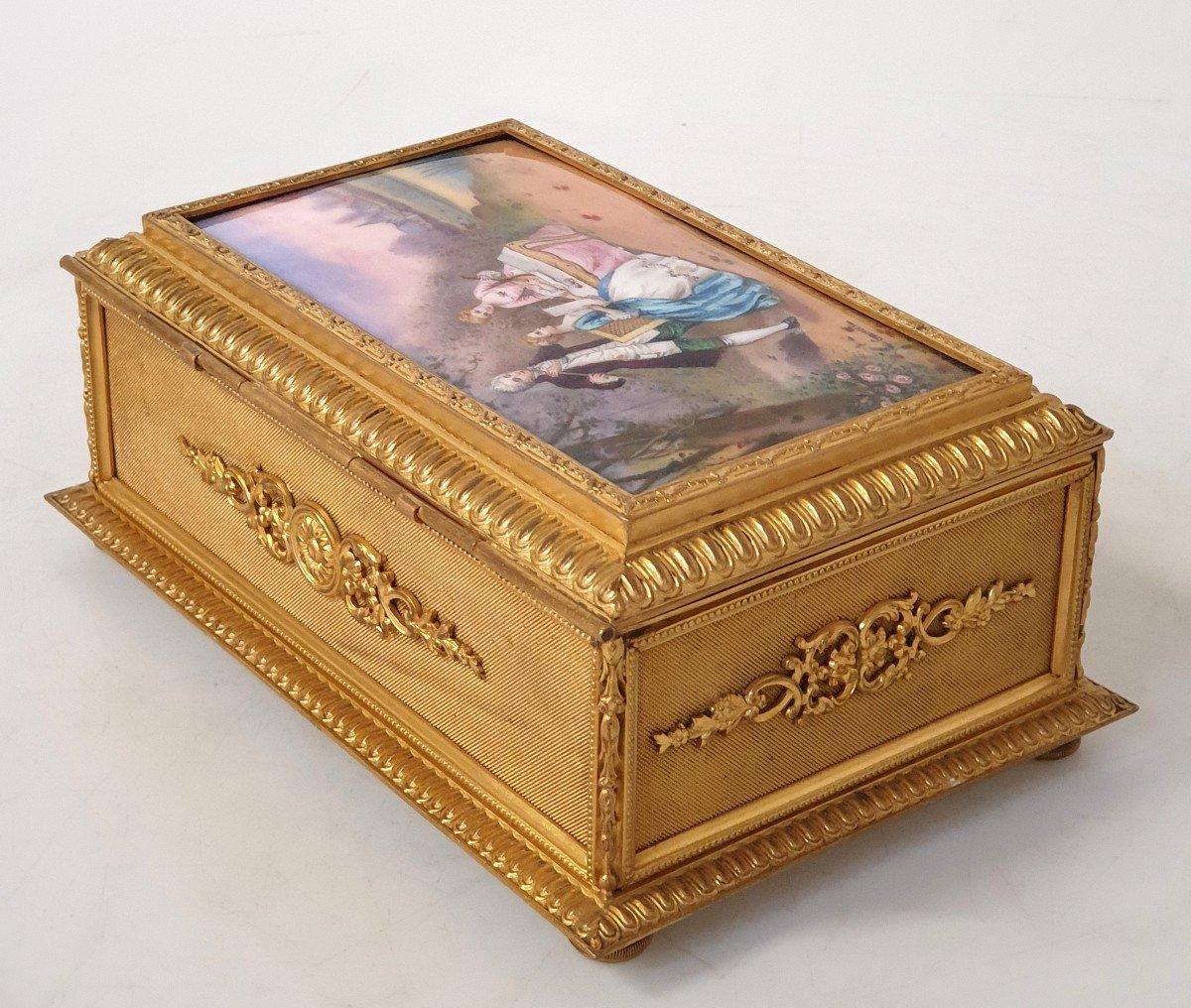 Boîte à Bijoux émail Bronze -photo-5
