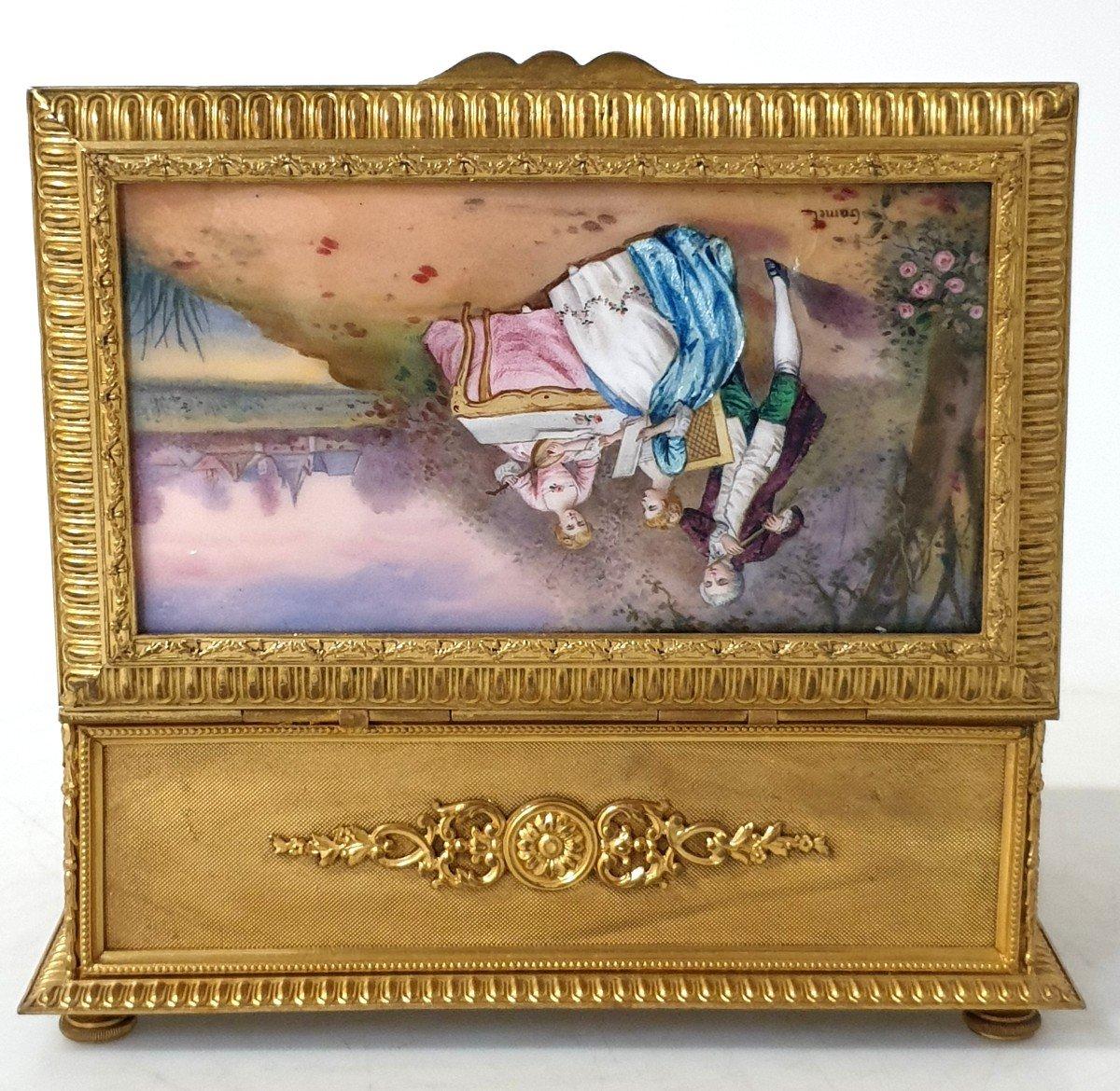 Boîte à Bijoux émail Bronze -photo-6
