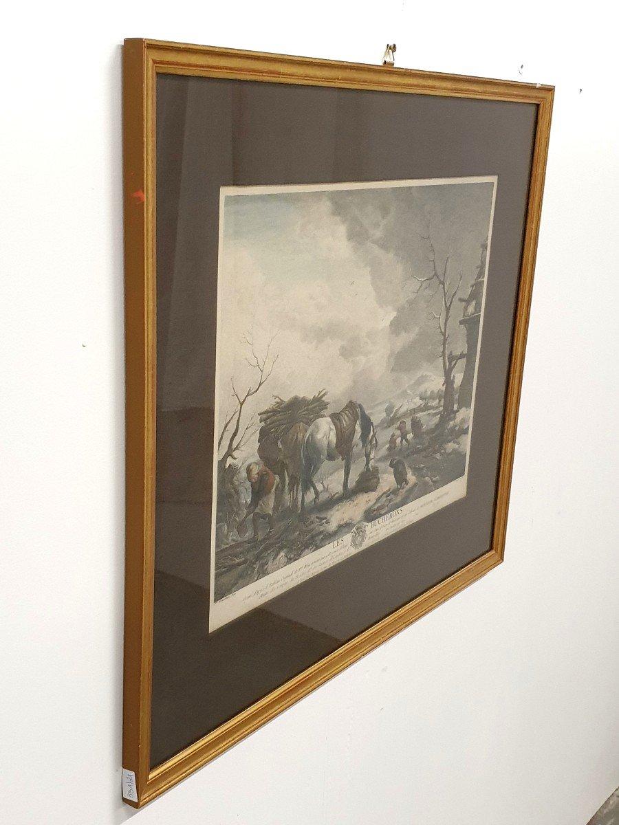 Gravure Couleurs XVIIIe Philips Wouwerman 58 X 66 Cm-photo-2