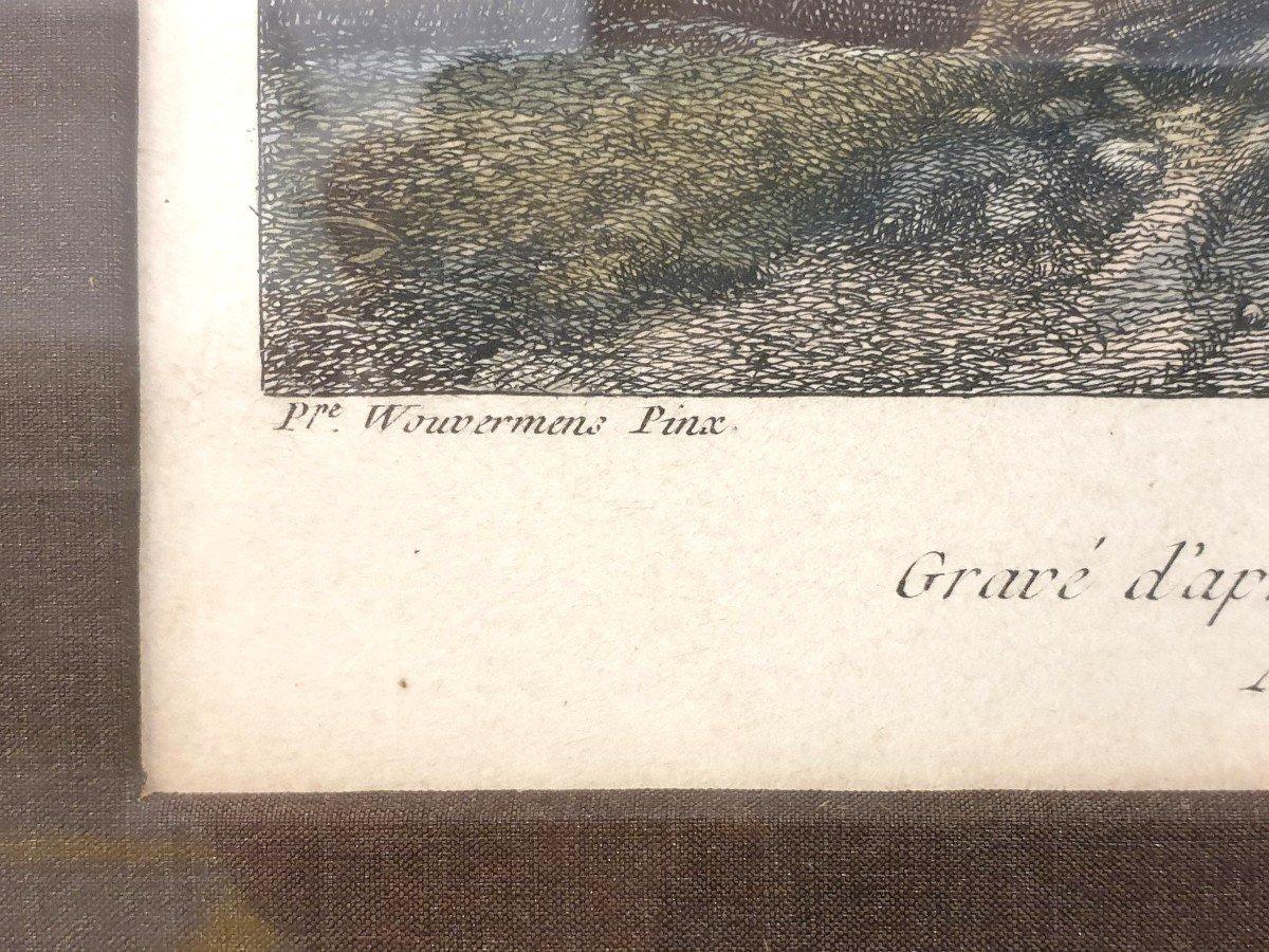 Gravure Couleurs XVIIIe Philips Wouwerman 58 X 66 Cm-photo-4